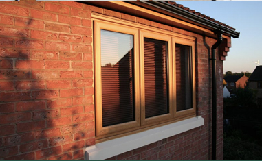 Retro timber look windows