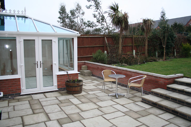 conservatory and outside area